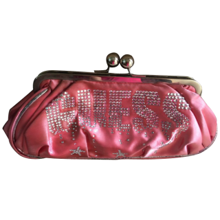 Guess Pink Clutch with Embellisments