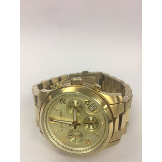 Michael Kors Gold-Toned Chronograph Dial Watch