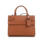 Guess Cognac Top Handle Flap Bag