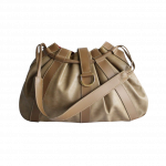 Lancel Camel Snake Effect Shoulder Bag