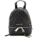 Michael Kors Black Rhea Zip Quilted Backpack