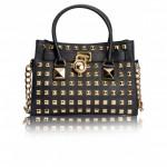 MICHAEL KORS Black Studded Hamilton Tote bag