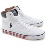 RALPH LAUREN White High Top Sneakers